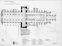 Cathedral Floor Plan English Medieval Cathedrals Exeter Floor Plan