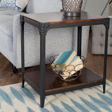 livingroom end tables belham living trenton industrial end table espresso walmart