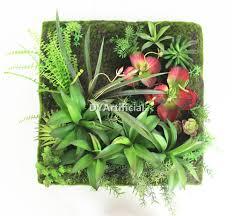 indoor decorative platsic succulent plants wall hanging