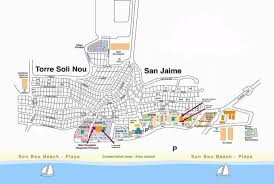 Menorca Spain Map by Son Bou Gardens Apartments Menorca Location