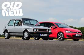 volkswagen old red old vs new vw golf gti mki vs vw golf gti mkvii old vs new