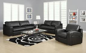 Black Leather Living Room Furniture Sets Artistic Black Living Room Set Brown Sets Theme Of Leather