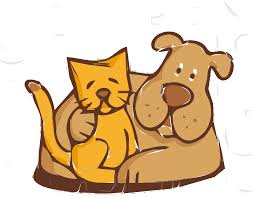clipart cat and dog friends