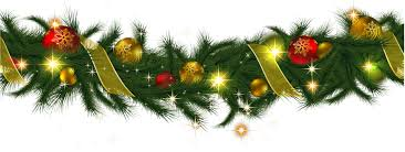 christmas garland transparent christmas pine garland with lights clipart gallery