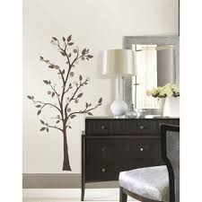 roommates 5 in x 19 in mod tree peel and stick giant wall decals mod tree peel and stick giant wall decals