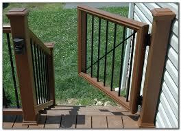 dog gate for deck decks home decorating ideas nv4yxp0xj9