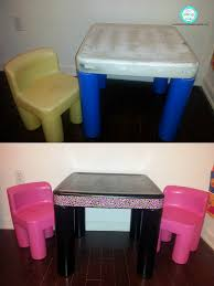 ugly plastic toddler desk turned cute just bought a little