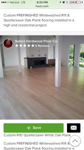Bona Gloss Floor Finish by Wide Plank Random Width Quarter Sawn White Oak Hardwood Flooring