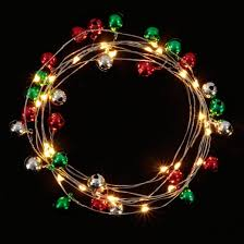 philips 30ct battery operated led jingle bell garland