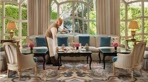 in the livingroom afternoon tea the peninsula beverly