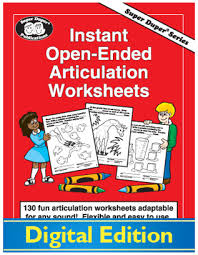instant open ended articulation worksheets u003cspan class
