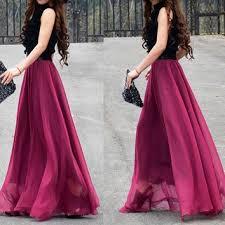 Long Flowy Maxi Skirt Best Silk Chiffon Maxi Skirt Products On Wanelo