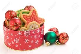 christmas cookies in a tin christmas lights decoration