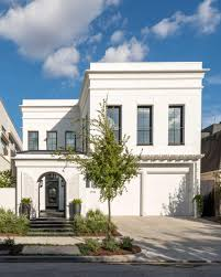 neoclassical house modern neoclassical home features chic color palette contemporary
