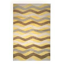 wool rug tufenkian modern yellow brown gray wool rug 8212 andonian rugs
