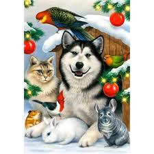 5d diy diamond embroidery digital painting animal dog and cat