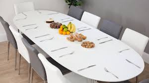 Extending Kitchen Tables by Ellie White Oval Extending Dining Table And Lena Dining Chairs