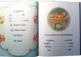 baby record book baby and baptism gifts