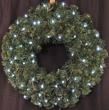 3 pre lit battery operated cool white led sequoia wreath