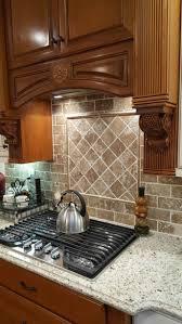 kitchen subway tile backsplash designs tumbled travertine subway tile backsplash travertine kitchen