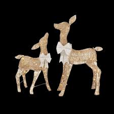 Lighted Deer Lawn Ornaments by Deer U0026 Doe Outdoor Christmas Decorations Christmas Decorations