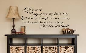 living room wall decals life is short wall decals by amanda s living room wall decals
