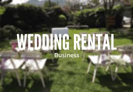 wedding rental equipment wedding business ideas wedding equipment rental business