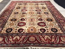 Hand Knotted Rugs India New India Hand Knotted Antique Recreation Of Persian 19th Century