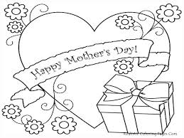 coloring pages for mother u0027s day cards