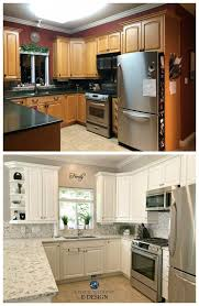 kitchen makeover with cabinets before after oak kitchen makeover while wood cabinets are