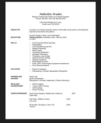 Dental Assistant Resume Templates Objective For Resume Dental Assistant Http Resumesdesign Com