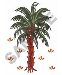 coconut tree embroidery design annthegran
