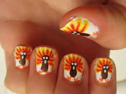 nail for thanksgiving thanksgiving turkeys nail tutorial