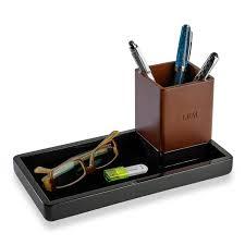 enamel and wood desk set 3 pieces levenger