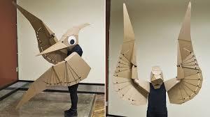 Halloween Costumes Cardboard Pterodactyls Perfect Jurassic Halloween