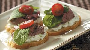 beef canapes with cucumber sauce recipe taste of home