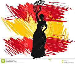 Dancing Flags Flamenco Dancer Stock Photo Image Of Flag Texture 57705114