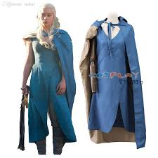 halloween costume with cape wholesale game of thrones daenerys targaryen khaleesi with cape