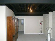 Black Ceiling Basement by Painted Basement Ceilings Basement Ideas Pinterest Painted
