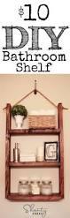 bathroom shelf ideas pinterest how to make a hanging bathroom shelf for only 10 easy shelves