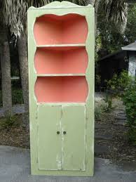 vintage small country corner cabinet painted by onlinechic on etsy