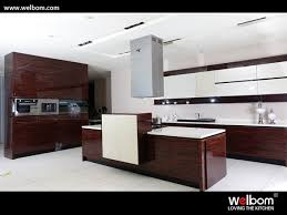 china wood grain with high gloss lacquer kitchen cabinet china