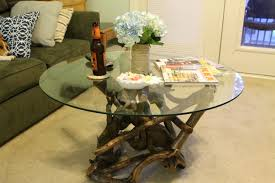 coffee tables appealing driftwood glass coffee table australia