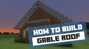 how to build a gable roof minecraft tutorial youtube