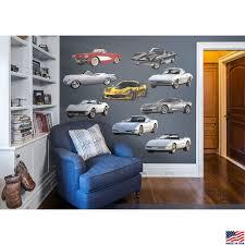 corvette generations collection fathead wall graphics