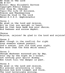 thanksgiving day song lyrics salvation army hymnal song be glad in the lord with lyrics and pdf