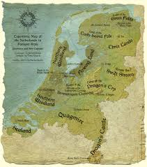 toponymic map of the netherlands in fantasy style thenetherlands