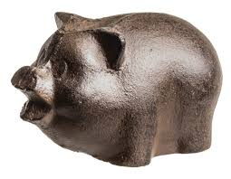 prinz cast iron pig statue u0026 reviews wayfair