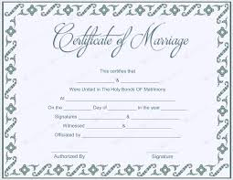 certificate of marriage template traditional corner marriage
