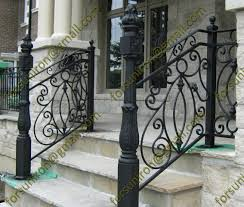Front Porch Banisters Exterior Outdoor Wrought Iron Porch Railings For Stair Steps Buy